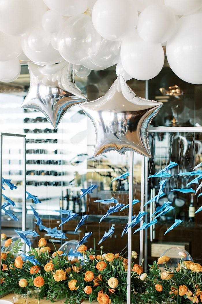 "Sky Balloons from a ""Boy Meets World"" Travel Baby Shower on Kara's Party Ideas | KarasPartyIdeas.com (27)"