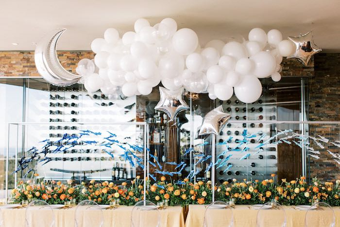 """Guest Table from a """"Boy Meets World"""" Travel Baby Shower on Kara's Party Ideas 