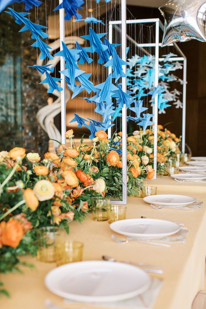 """Guest Tablescape from a """"Boy Meets World"""" Travel Baby Shower on Kara's Party Ideas 