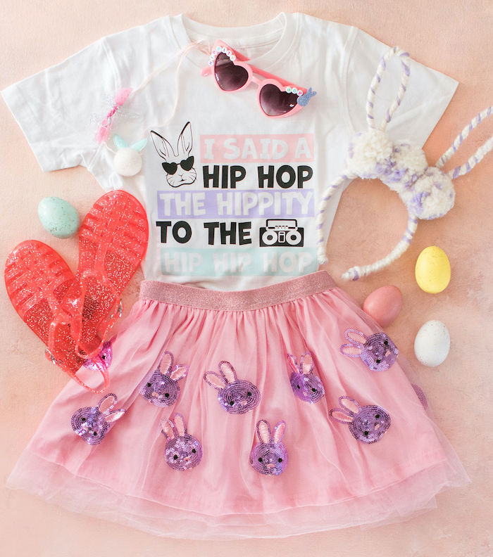 "Hip Hop Easter Party Attire from an ""Ohhh I Wanna Dance With Somebunny"" 80's Pop Star Easter Party on Kara's Party Ideas 