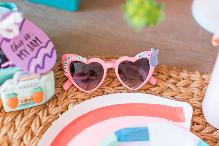 "Hippity Hop Sunnies from an ""Ohhh I Wanna Dance With Somebunny"" 80's Pop Star Easter Party on Kara's Party Ideas 
