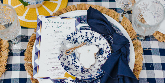 Backyard Blue and Navy Baby Shower Brunch on Kara's Party Ideas | (3)