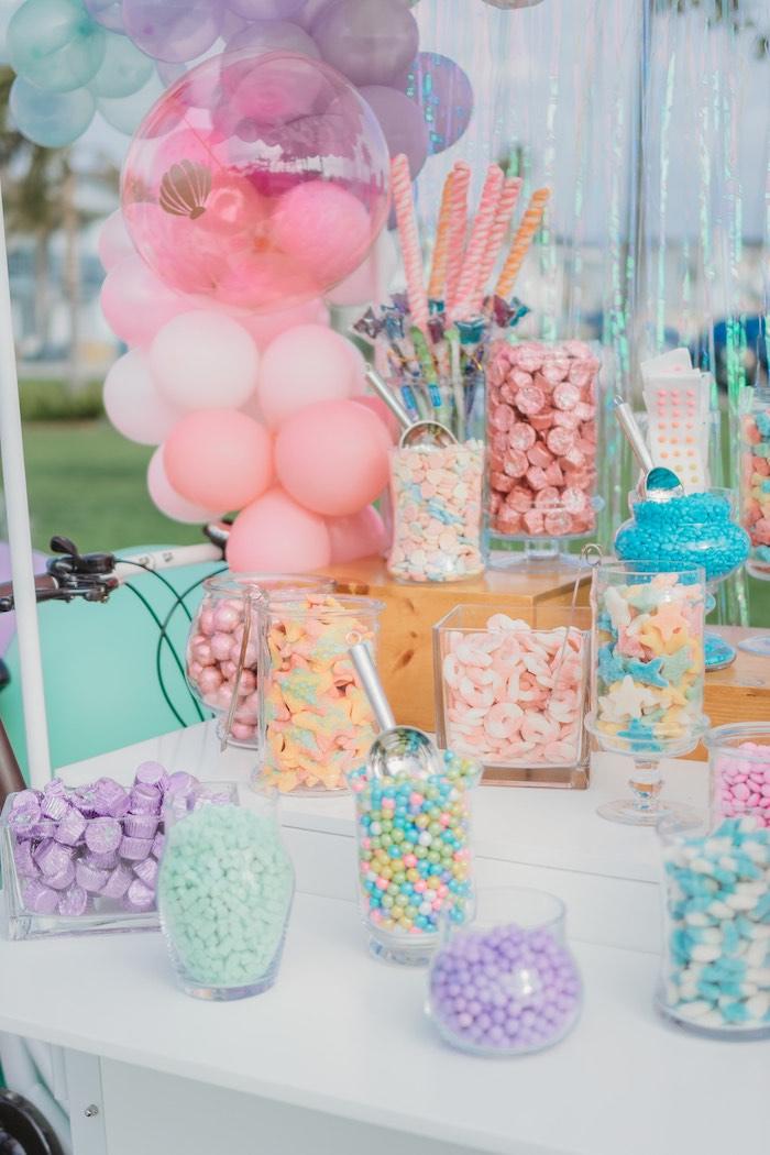 Candy Buffet from a Boho Mermaid Party on Kara's Party Ideas | KarasPartyIdeas.com (19)