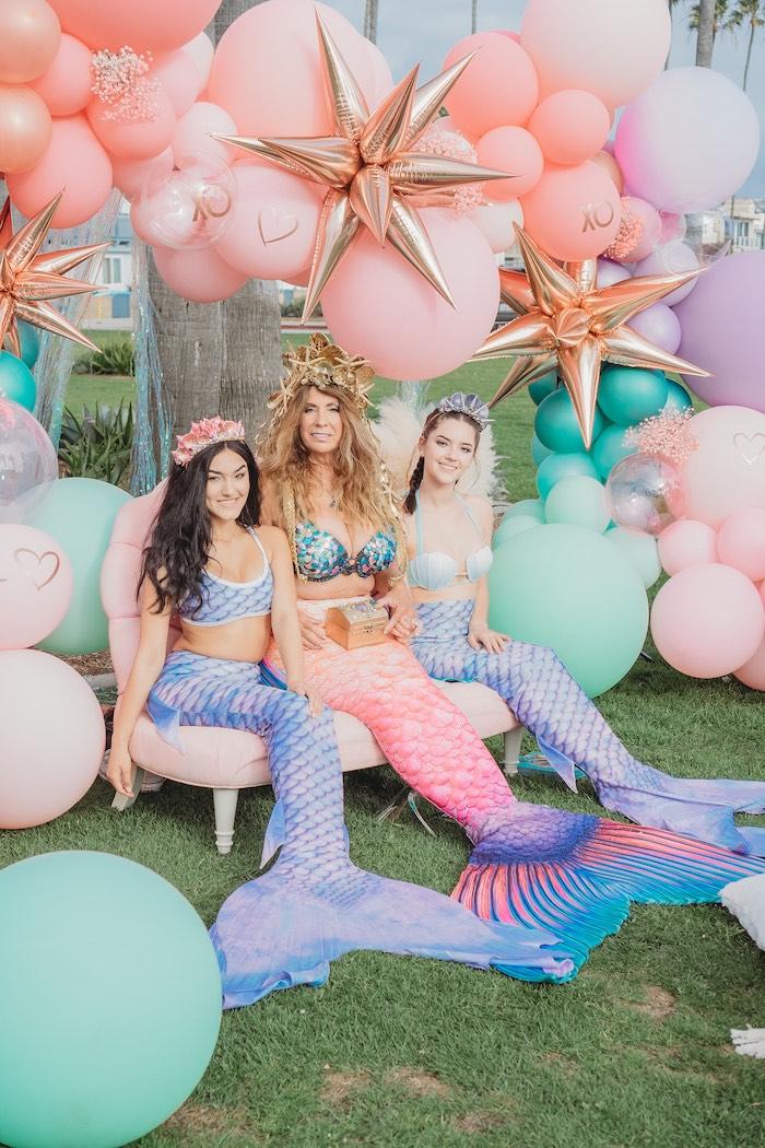 Mermaid from a Boho Mermaid Party on Kara's Party Ideas | KarasPartyIdeas.com (14)