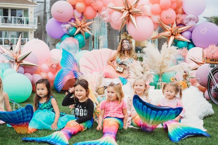 Boho Mermaid Party on Kara's Party Ideas | KarasPartyIdeas.com (9)