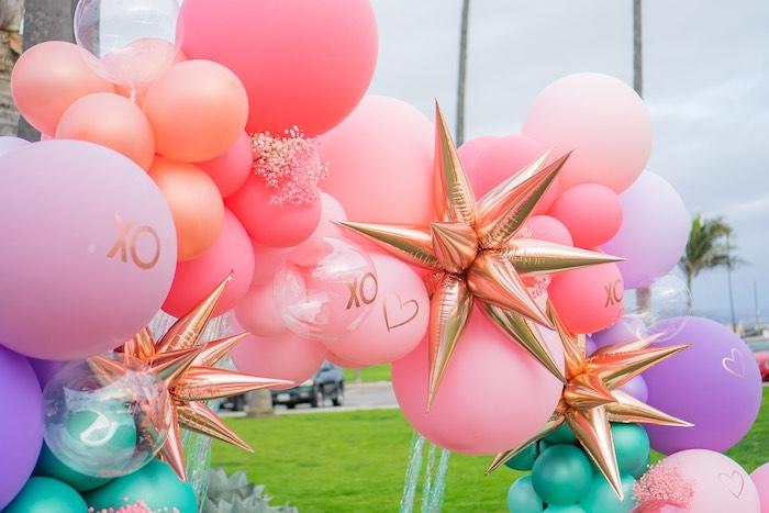 Boho Mermaid Balloon Garland + Arch from a Boho Mermaid Party on Kara's Party Ideas | KarasPartyIdeas.com (5)