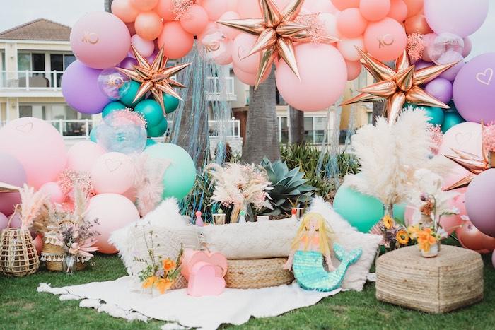Boho Mermaid Party on Kara's Party Ideas | KarasPartyIdeas.com (3)