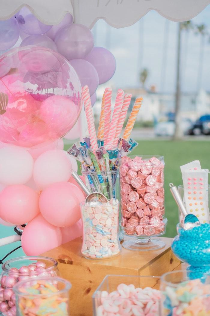 Candy Buffet from a Boho Mermaid Party on Kara's Party Ideas | KarasPartyIdeas.com (29)