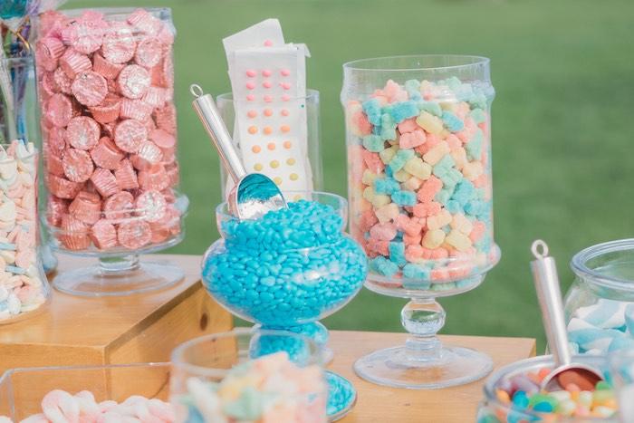 Candy Buffet from a Boho Mermaid Party on Kara's Party Ideas | KarasPartyIdeas.com (28)