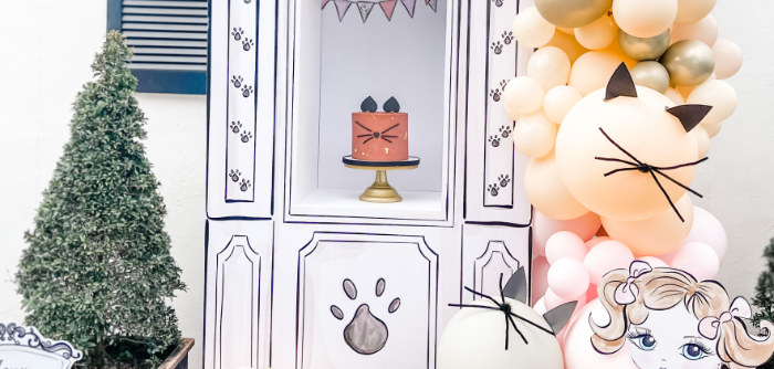 Boho Parisian Cat Cafe Birthday Party on Kara's Party Ideas | KarasPartyIdeas.com (1)