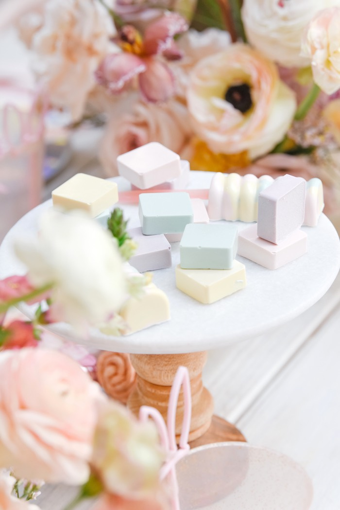 Pastel Dessert Platter from a Boho Pastel Easter Party on Kara's Party Ideas | KarasPartyIdeas.com (40)