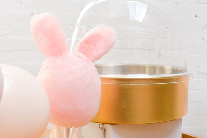 Bunny Cotton Candy from a Boho Pastel Easter Party on Kara's Party Ideas | KarasPartyIdeas.com (36)
