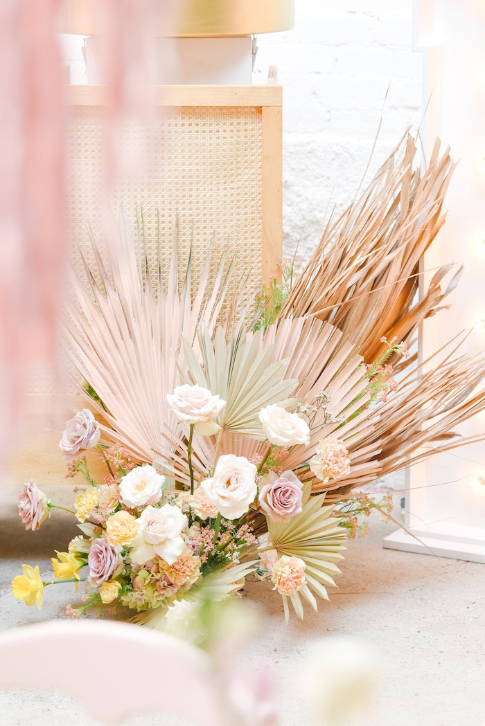 Boho Easter Blooms from a Boho Pastel Easter Party on Kara's Party Ideas | KarasPartyIdeas.com (53)