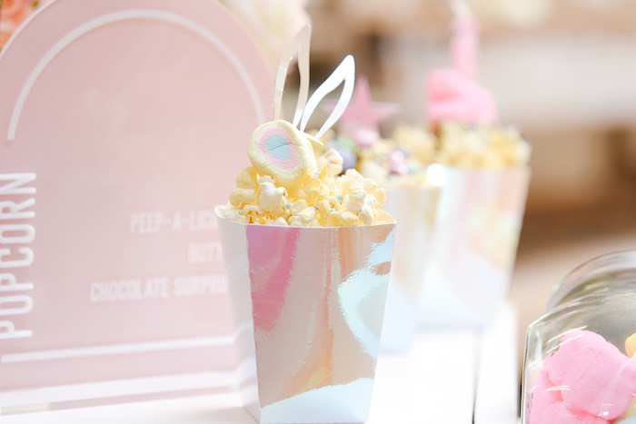 Easter Popcorn from a Boho Pastel Easter Party on Kara's Party Ideas | KarasPartyIdeas.com (22)