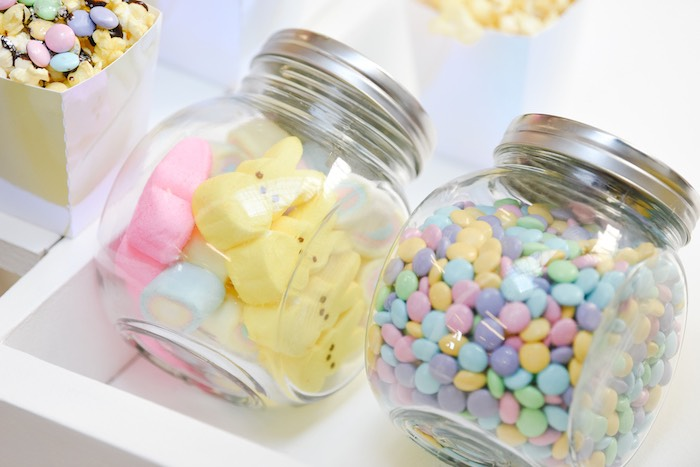 Easter Peeps & M&M's - Popcorn Toppings from a Boho Pastel Easter Party on Kara's Party Ideas | KarasPartyIdeas.com (20)