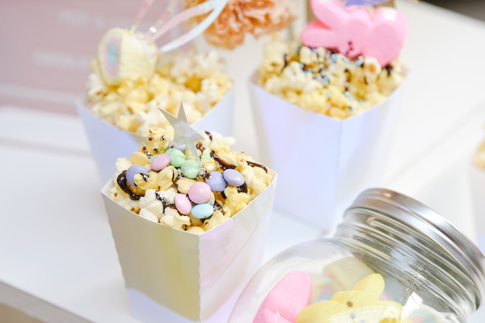 Easter Popcorn from a Boho Pastel Easter Party on Kara's Party Ideas | KarasPartyIdeas.com (19)