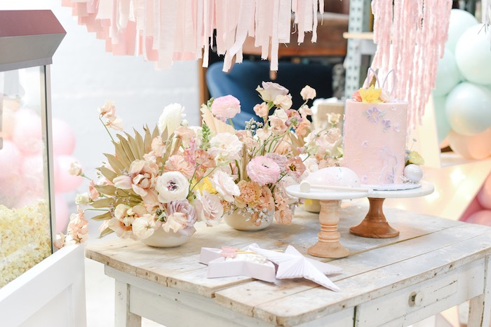 Boho Easter Cake Table from a Boho Pastel Easter Party on Kara's Party Ideas | KarasPartyIdeas.com (18)