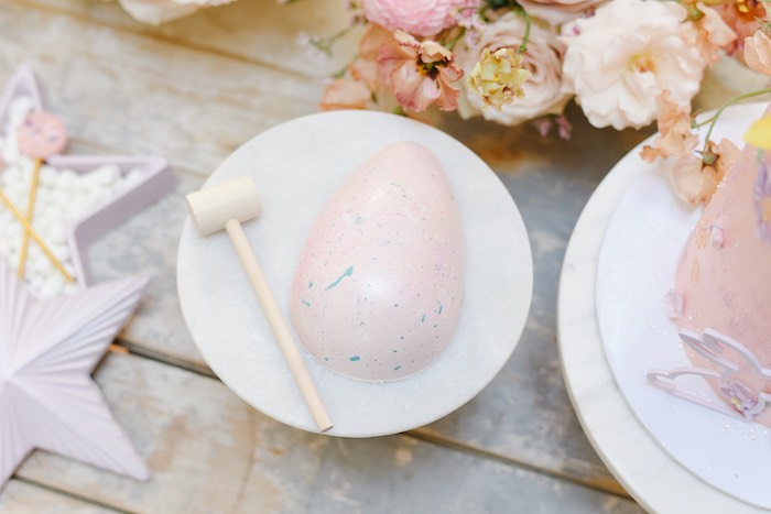 Breakable Surprise Easter Egg from a Boho Pastel Easter Party on Kara's Party Ideas | KarasPartyIdeas.com (17)