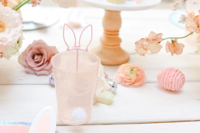 Bunny-inspired Cup from a Boho Pastel Easter Party on Kara's Party Ideas | KarasPartyIdeas.com (51)