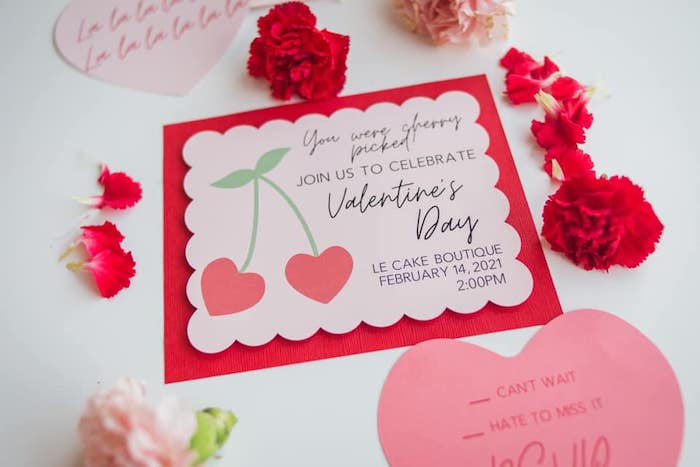 Valentine's Day Party Invite from a Cherry Love Party on Kara's Party Ideas | KarasPartyIdeas.com (11)