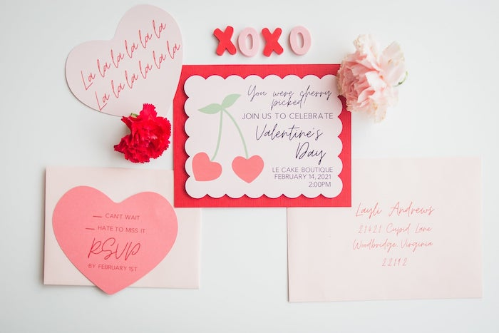 Valentine's Day Party Invite from a Cherry Love Party on Kara's Party Ideas | KarasPartyIdeas.com (21)