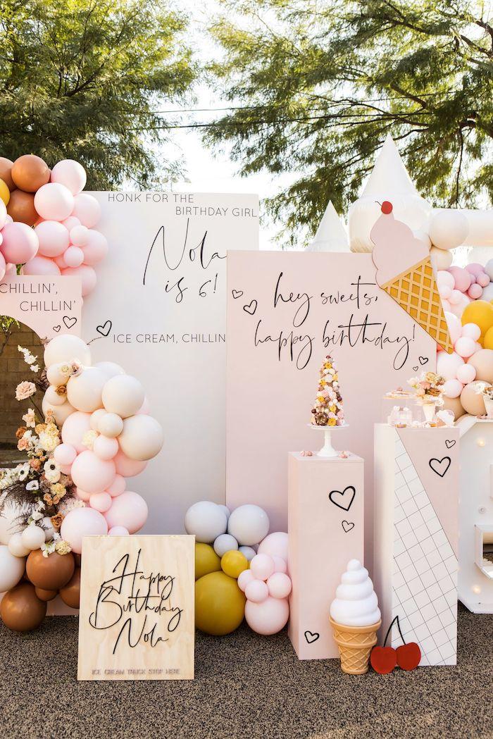 Ice Cream Themed Dessert Spread from a Drive-by Ice Cream Party on Kara's Party Ideas | KarasPartyIdeas.com (20)