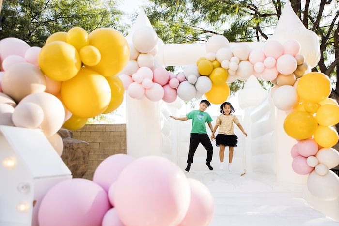 Bouncy House from a Drive-by Ice Cream Party on Kara's Party Ideas | KarasPartyIdeas.com (4)