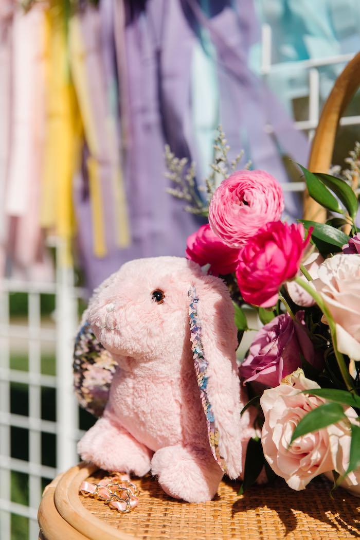 Pink Plush Bunny from an Easter Love Bunny Party on Kara's Party Ideas | KarasPartyIdeas.com (12)