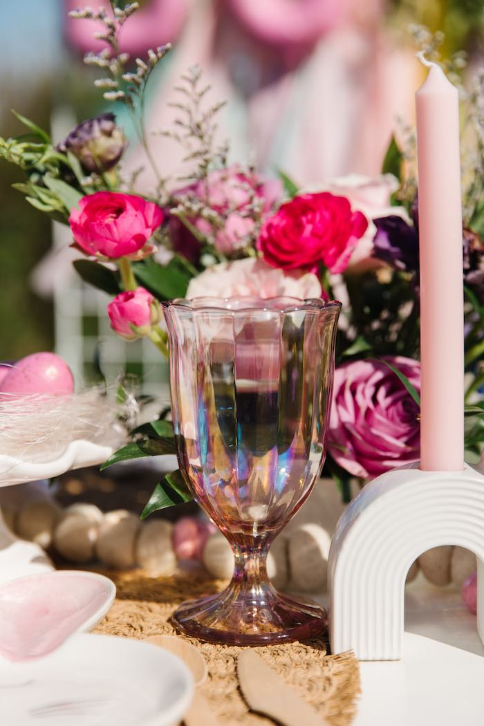Pink Drinking Glass from an Easter Love Bunny Party on Kara's Party Ideas | KarasPartyIdeas.com (9)
