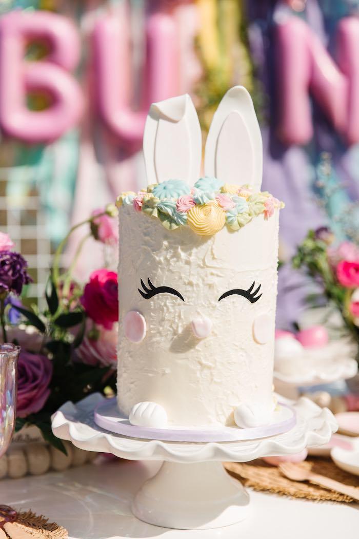 Bunny Cake from an Easter Love Bunny Party on Kara's Party Ideas | KarasPartyIdeas.com (7)