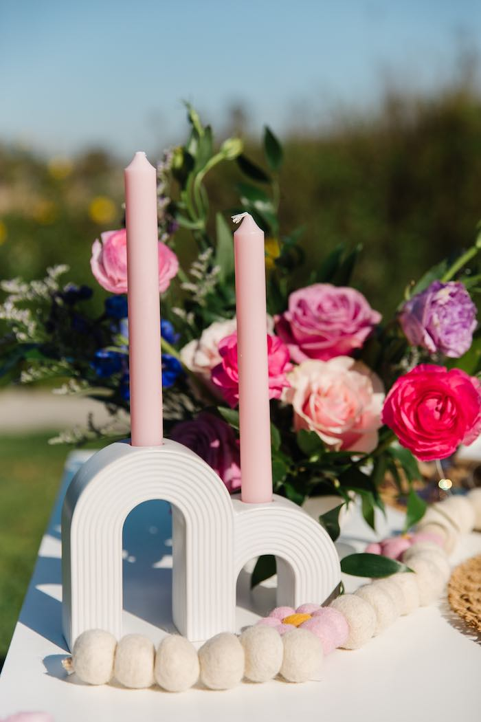 Arch Candle Holder from an Easter Love Bunny Party on Kara's Party Ideas | KarasPartyIdeas.com (24)