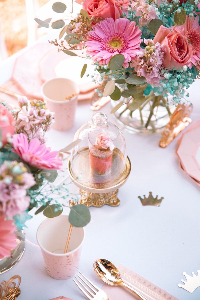 Dessert Cloche from an Elegant Disney Princess Party on Kara's Party Ideas | KarasPartyIdeas.com (14)