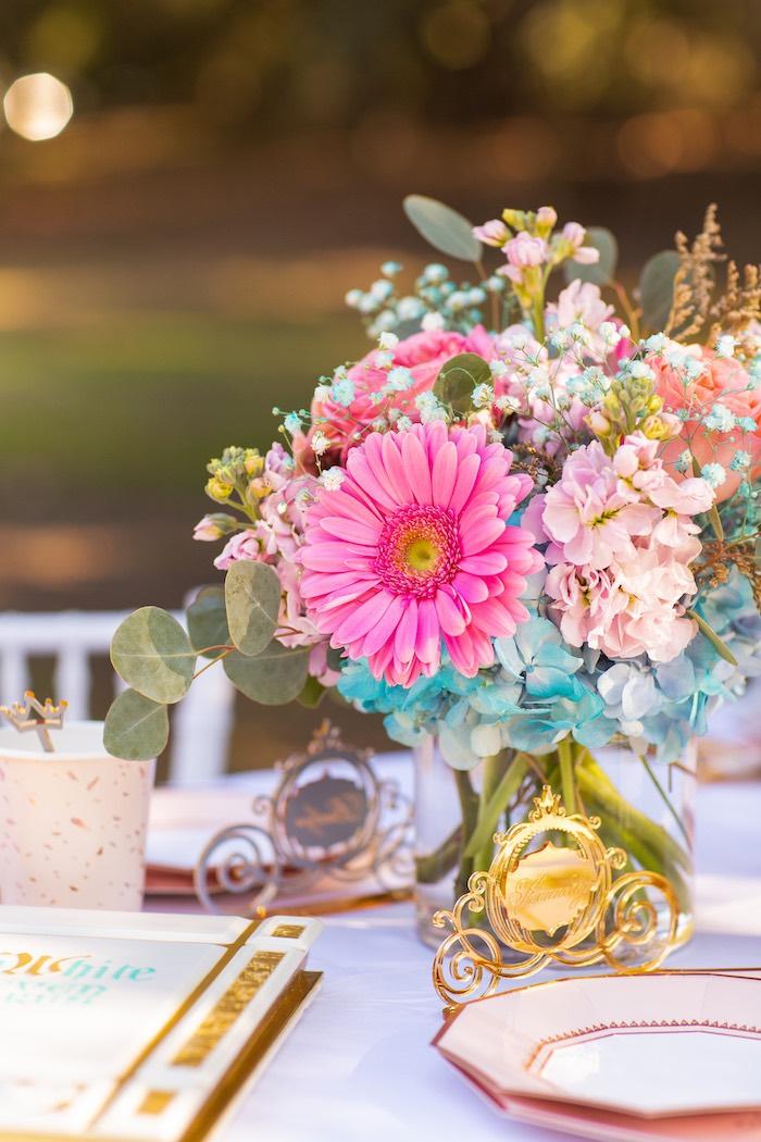 Table Blooms from an Elegant Disney Princess Party on Kara's Party Ideas | KarasPartyIdeas.com (9)