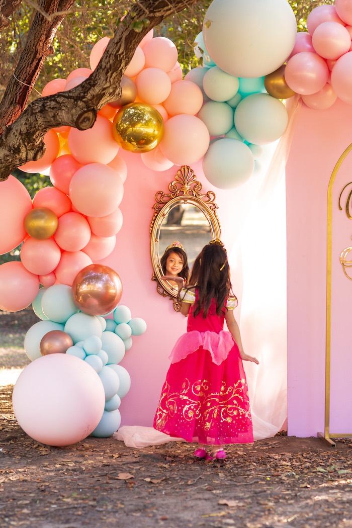 Mirror Mirror On The Wall....from an Elegant Disney Princess Party on Kara's Party Ideas | KarasPartyIdeas.com (3)