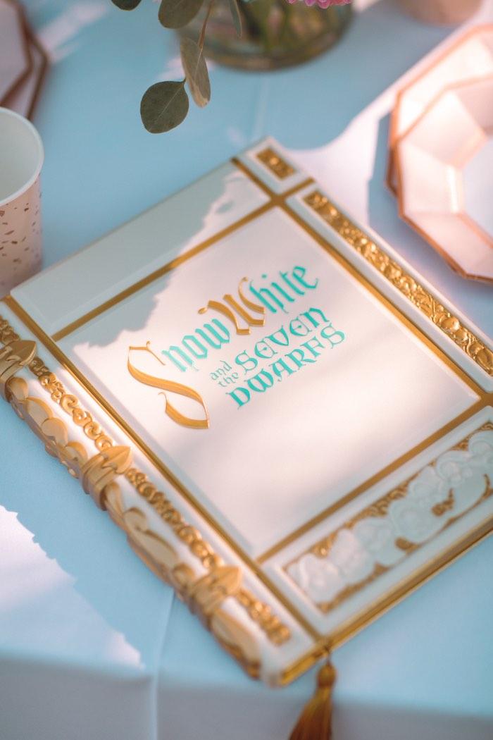 Snow White and the Seven Dwarfs Book from an Elegant Disney Princess Party on Kara's Party Ideas | KarasPartyIdeas.com (29)