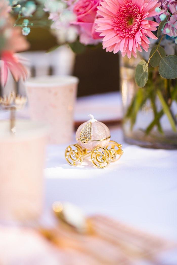 Gold Carriage Prop from an Elegant Disney Princess Party on Kara's Party Ideas | KarasPartyIdeas.com (27)
