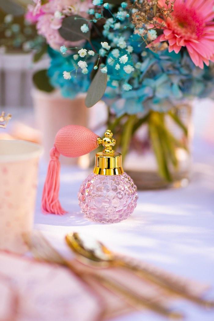Perfume Bottle from an Elegant Disney Princess Party on Kara's Party Ideas | KarasPartyIdeas.com (25)