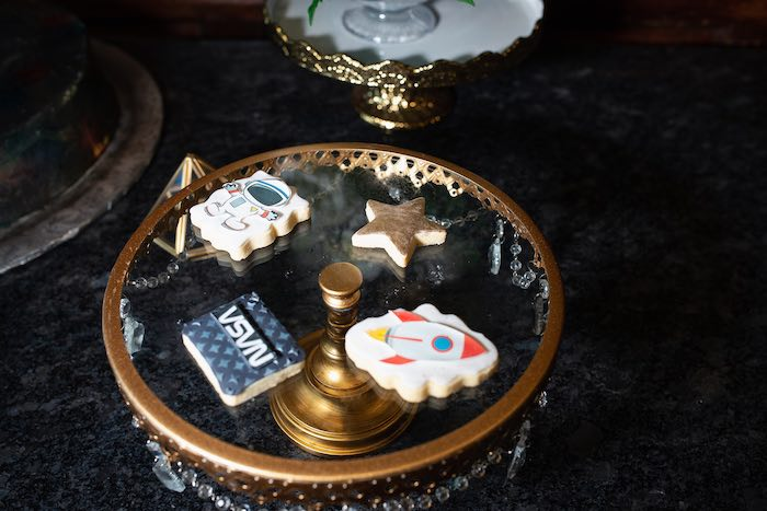 Space Cookies from a Galaxy Baby Shower on Kara's Party Ideas | KarasPartyIdeas.com (21)