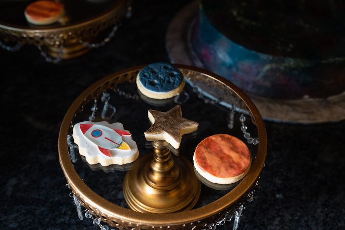 Space Cookies from a Galaxy Baby Shower on Kara's Party Ideas | KarasPartyIdeas.com (20)