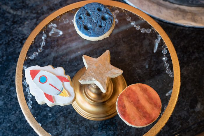 Space Cookies from a Galaxy Baby Shower on Kara's Party Ideas | KarasPartyIdeas.com (14)
