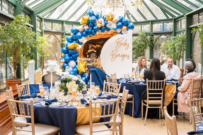 Galaxy-inspired Guest Tables from a Galaxy Baby Shower on Kara's Party Ideas | KarasPartyIdeas.com (12)