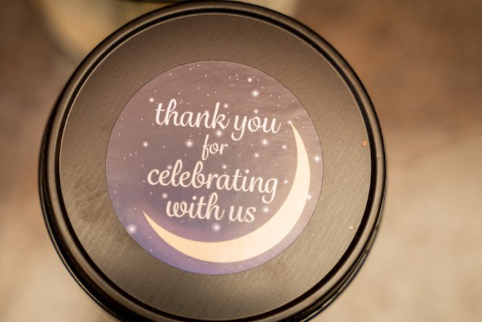 Crescent Moon Thank You Sticker + Tag from a Galaxy Baby Shower on Kara's Party Ideas | KarasPartyIdeas.com (9)