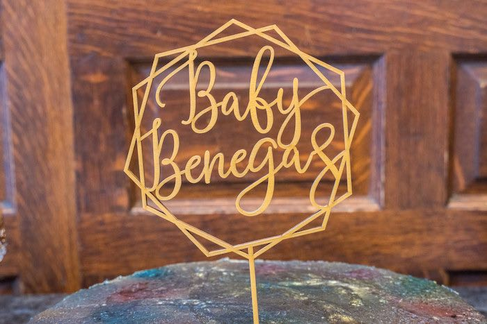 Custom Wire Cake Topper from a Galaxy Baby Shower on Kara's Party Ideas | KarasPartyIdeas.com (7)