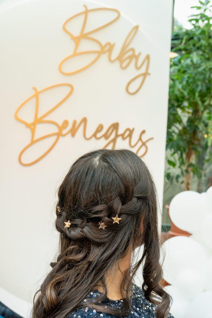 Star-studded Hair from a Galaxy Baby Shower on Kara's Party Ideas | KarasPartyIdeas.com (5)