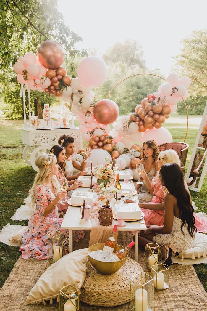 Glam Bridal Shower Picnic on Kara's Party Ideas | KarasPartyIdeas.com (15)