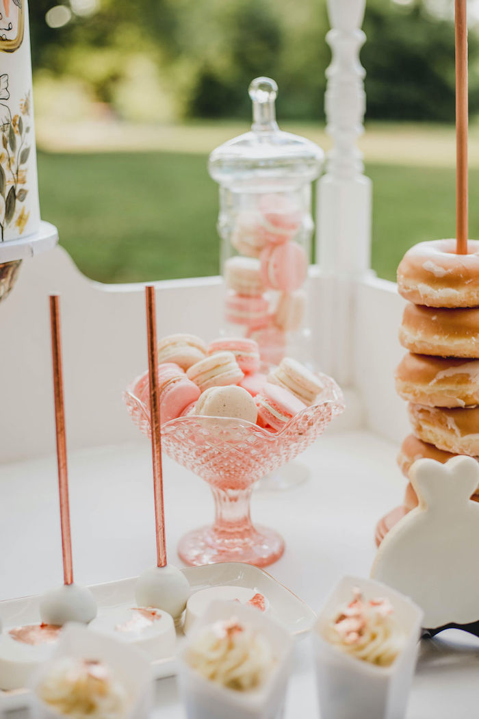 Pink + White Macarons from a Glam Bridal Shower Picnic on Kara's Party Ideas | KarasPartyIdeas.com (34)