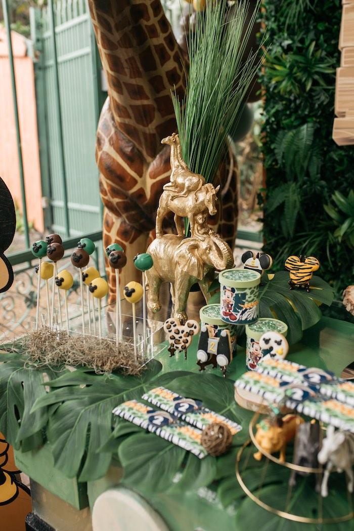 Safari Themed Sweet Table Details from a Mickey Mouse Safari Party on Kara's Party Ideas | KarasPartyIdeas.com (14)