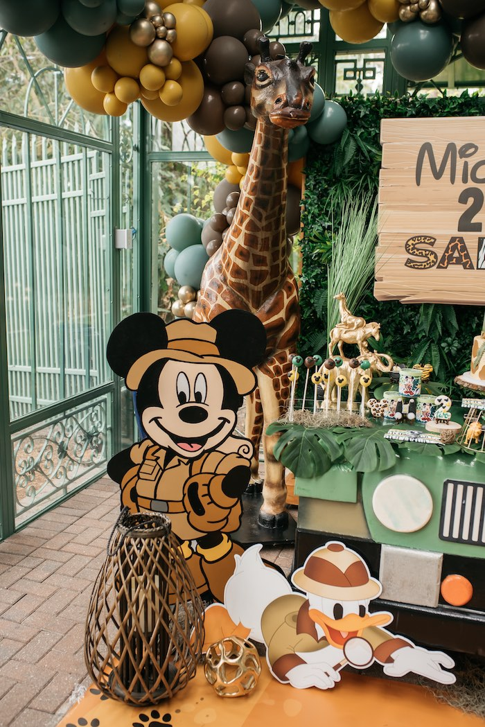 Mickey & Donald Duck Standees from a Mickey Mouse Safari Party on Kara's Party Ideas | KarasPartyIdeas.com (13)