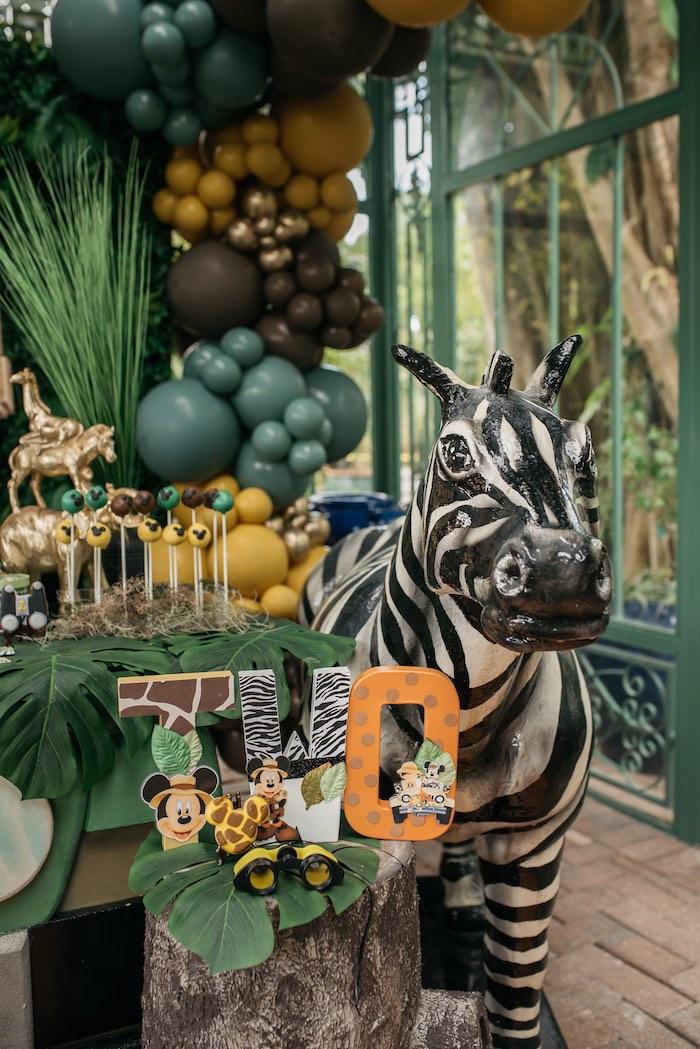 Safari Animal Print Block Letter Sign + Zebra from a Mickey Mouse Safari Party on Kara's Party Ideas | KarasPartyIdeas.com (12)