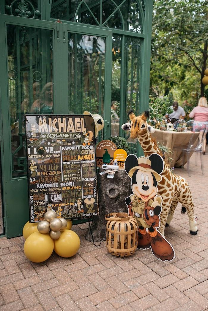 Safari Party Entrance Decor from a Mickey Mouse Safari Party on Kara's Party Ideas | KarasPartyIdeas.com (11)